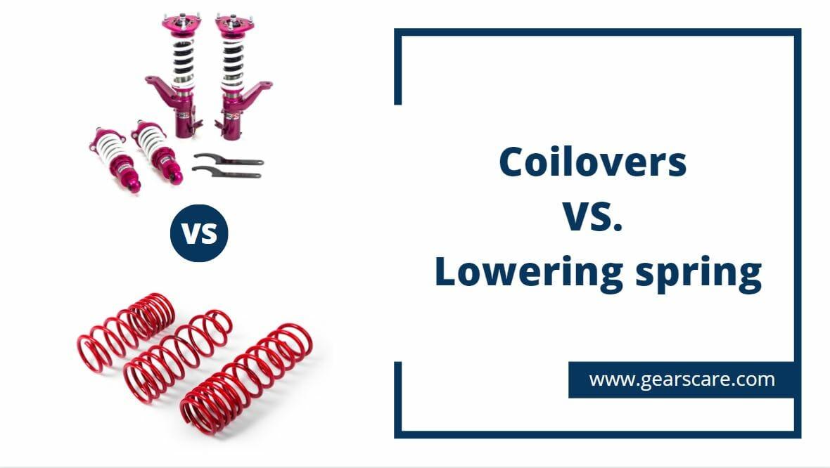 coilovers vs lowering springs